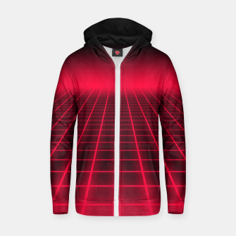Thumbnail image of The Grid Cotton zip up hoodie, Live Heroes