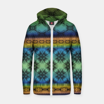 Thumbnail image of Pattern3 Cotton zip up hoodie, Live Heroes
