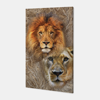 Thumbnail image of Lion King and Queen Canvas, Live Heroes
