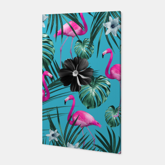 Imagen en miniatura de Tropical Flamingo Flower Jungle #1 #tropical #decor #art Canvas, Live Heroes