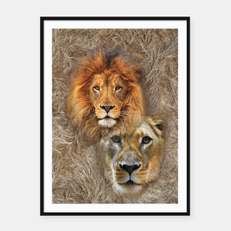 Thumbnail image of Lion King and Queen Framed poster, Live Heroes