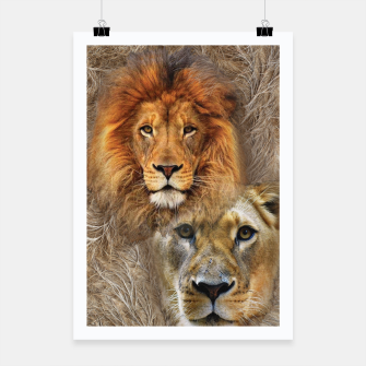 Thumbnail image of Lion King and Queen Poster, Live Heroes