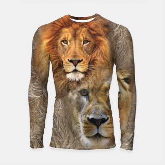 Thumbnail image of Lion King and Queen Longsleeve rashguard , Live Heroes