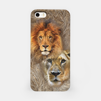 Miniatur Lion King and Queen iPhone Case, Live Heroes