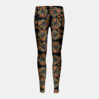 Miniaturka Graphic Ethnic Pattern Design Girl's leggings, Live Heroes
