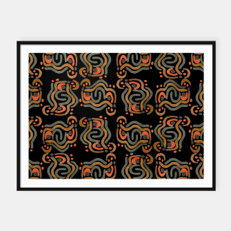 Thumbnail image of Graphic Ethnic Pattern Design Framed poster, Live Heroes
