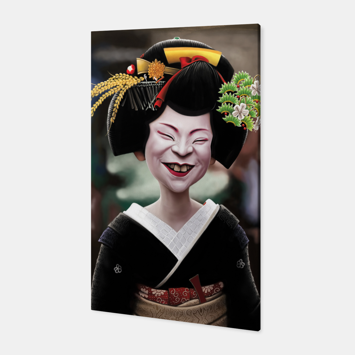 Image of The Ugly Geisha Canvas - Live Heroes