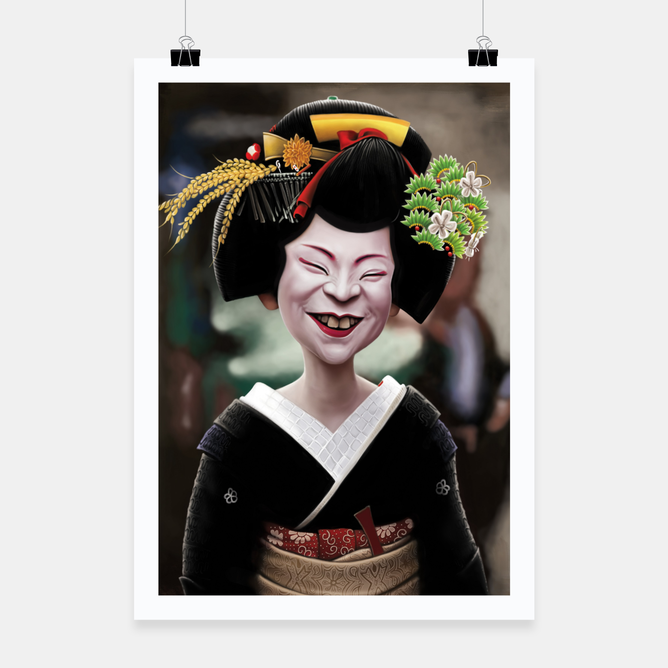 Image of The Ugly Geisha Poster - Live Heroes