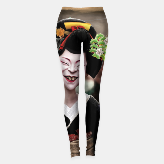 Thumbnail image of The Ugly Geisha Leggings, Live Heroes