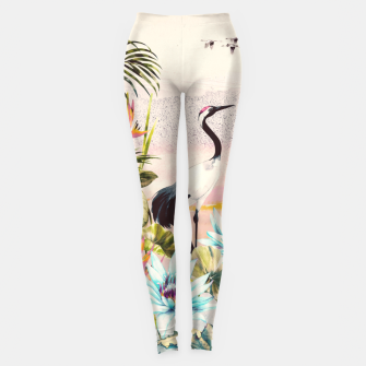 Imagen en miniatura de Landscapes of birds in paradise Leggings, Live Heroes