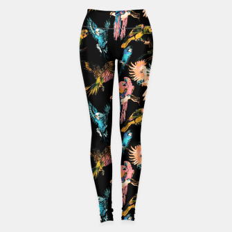 Thumbnail image of Drawing birds in the night Leggings, Live Heroes