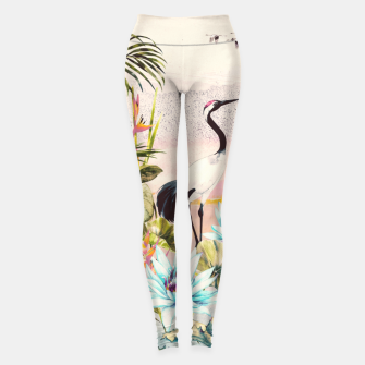 Thumbnail image of Landscapes of birds in paradise Leggings, Live Heroes