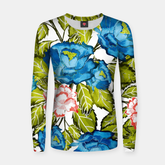 Thumbnail image of Indigo Bloom Woman cotton sweater, Live Heroes