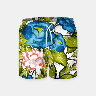 Thumbnail image of Indigo Bloom Swim Shorts, Live Heroes