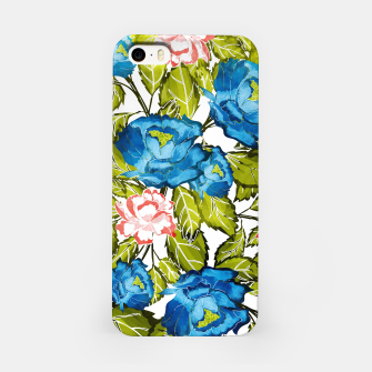 Miniatur Indigo Bloom iPhone Case, Live Heroes