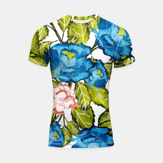 Thumbnail image of Indigo Bloom Shortsleeve rashguard, Live Heroes