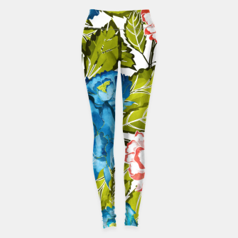 Thumbnail image of Indigo Bloom Leggings, Live Heroes