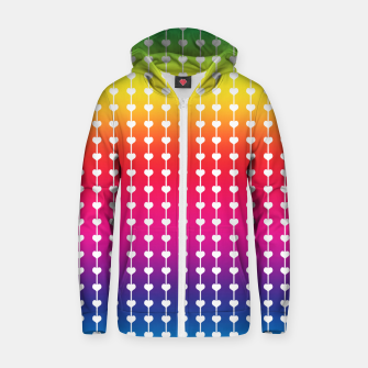 Miniatur Loving Rainbows Cotton zip up hoodie, Live Heroes
