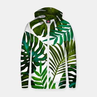 Thumbnail image of Tropical Dream V2 Cotton zip up hoodie, Live Heroes