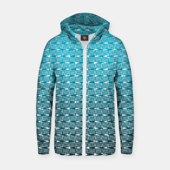 Miniatur Blue Zig Zag Cotton zip up hoodie, Live Heroes