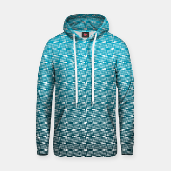 Thumbnail image of Blue Zig Zag Cotton hoodie, Live Heroes