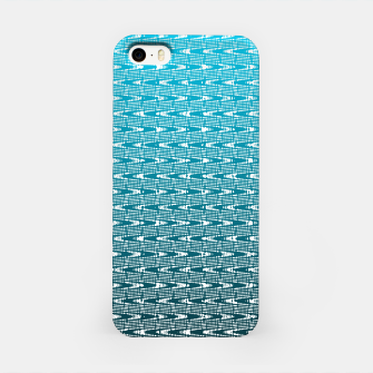 Miniatur Blue Zig Zag iPhone Case, Live Heroes