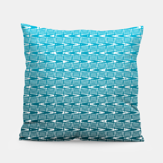 Thumbnail image of Blue Zig Zag Pillow, Live Heroes