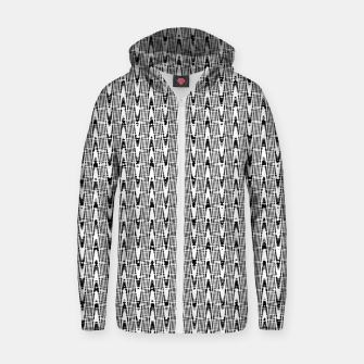 Miniatur Black and White Zig Zag Cotton zip up hoodie, Live Heroes