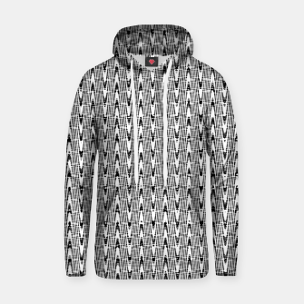 Thumbnail image of Black and White Zig Zag Cotton hoodie, Live Heroes
