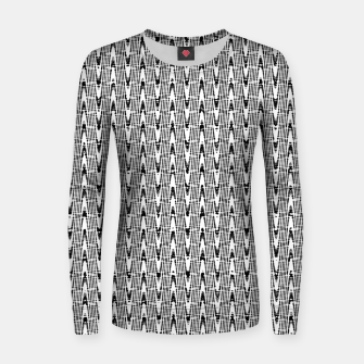 Miniatur Black and White Zig Zag Woman cotton sweater, Live Heroes