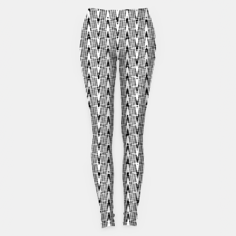 Imagen en miniatura de Black and White Zig Zag Leggings, Live Heroes
