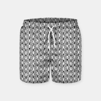 Thumbnail image of Black and White Zig Zag Swim Shorts, Live Heroes