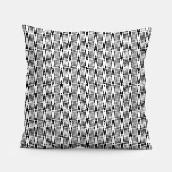 Miniatur Black and White Zig Zag Pillow, Live Heroes