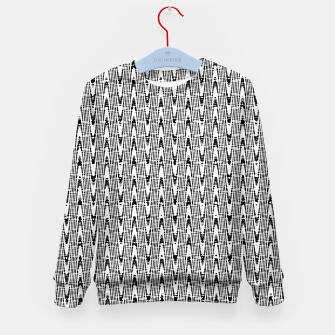 Thumbnail image of Black and White Zig Zag Kid's sweater, Live Heroes