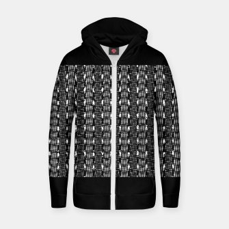 Miniatur B&W Solid Cotton zip up hoodie, Live Heroes