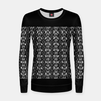 Miniatur B&W Solid Woman cotton sweater, Live Heroes