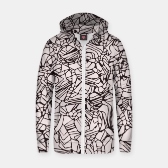 Miniatur Abstract Pattern Cotton zip up hoodie, Live Heroes