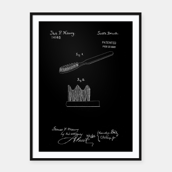 Thumbnail image of patent - toothbrush Plakaty w ramie , Live Heroes