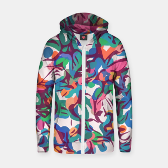Miniatur Colorful Abstract Pattern  Cotton zip up hoodie, Live Heroes