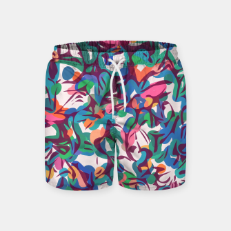 Thumbnail image of Colorful Abstract Pattern  Swim Shorts, Live Heroes