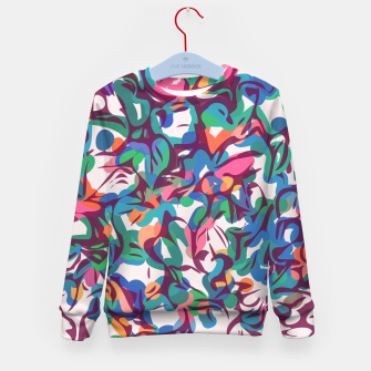 Thumbnail image of Colorful Abstract Pattern  Kid's sweater, Live Heroes