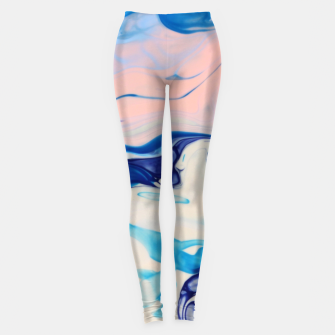 Thumbnail image of Marble effect art Leggings, Live Heroes