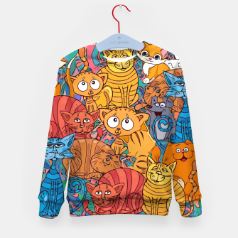 Thumbnail image of CatsGroupPhoto Find the Mouse  Kid's sweater, Live Heroes