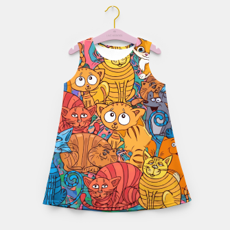 Thumbnail image of CatsGroupPhoto Find the Mouse  Girl's summer dress, Live Heroes