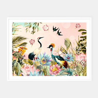 Landscapes of birds in paradise 2 Cartel con marco thumbnail image
