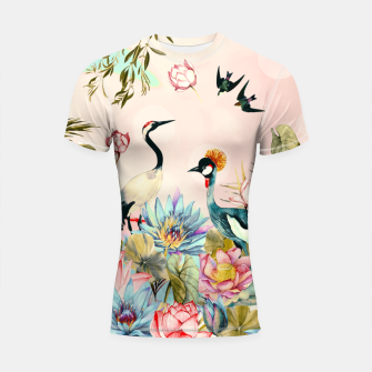 Landscapes of birds in paradise 2 Shortsleeve rashguard thumbnail image