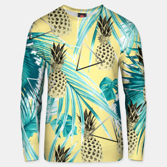 Thumbnail image of Tropical Pineapple Jungle Geo #1 #tropical #summer #decor #art Baumwoll sweatshirt, Live Heroes