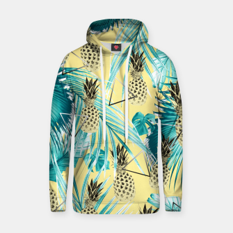 Thumbnail image of Tropical Pineapple Jungle Geo #1 #tropical #summer #decor #art Baumwoll Kapuzenpullover, Live Heroes