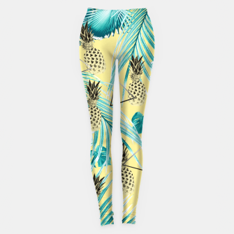 Thumbnail image of Tropical Pineapple Jungle Geo #1 #tropical #summer #decor #art Leggings, Live Heroes