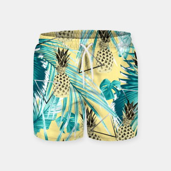 Thumbnail image of Tropical Pineapple Jungle Geo #1 #tropical #summer #decor #art Badeshorts, Live Heroes